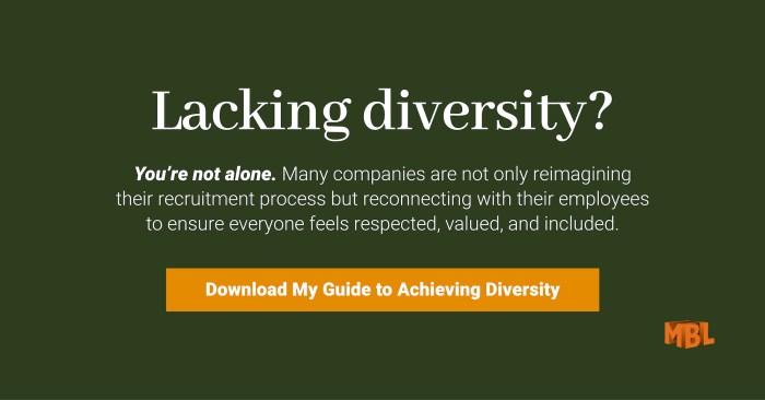 Lacking diversity? You're not alone. Many companies are not only reimagining their recruitment process but reconnecting with their employees to ensure everyone feels respected, valued, and included. Download your guide to achieving diversity.