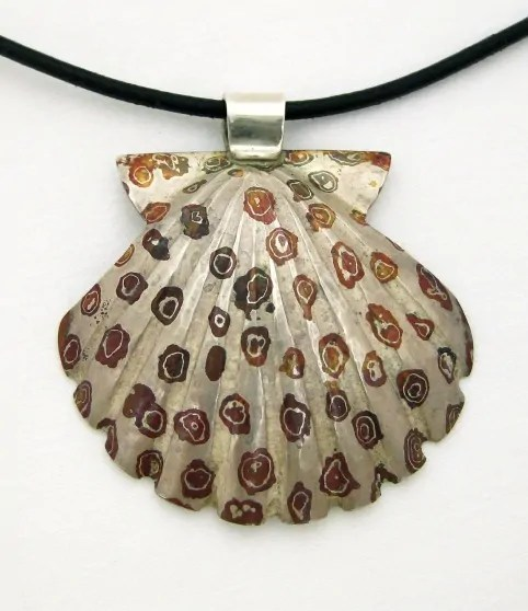 Shell pendant made  Jerry Blanchard