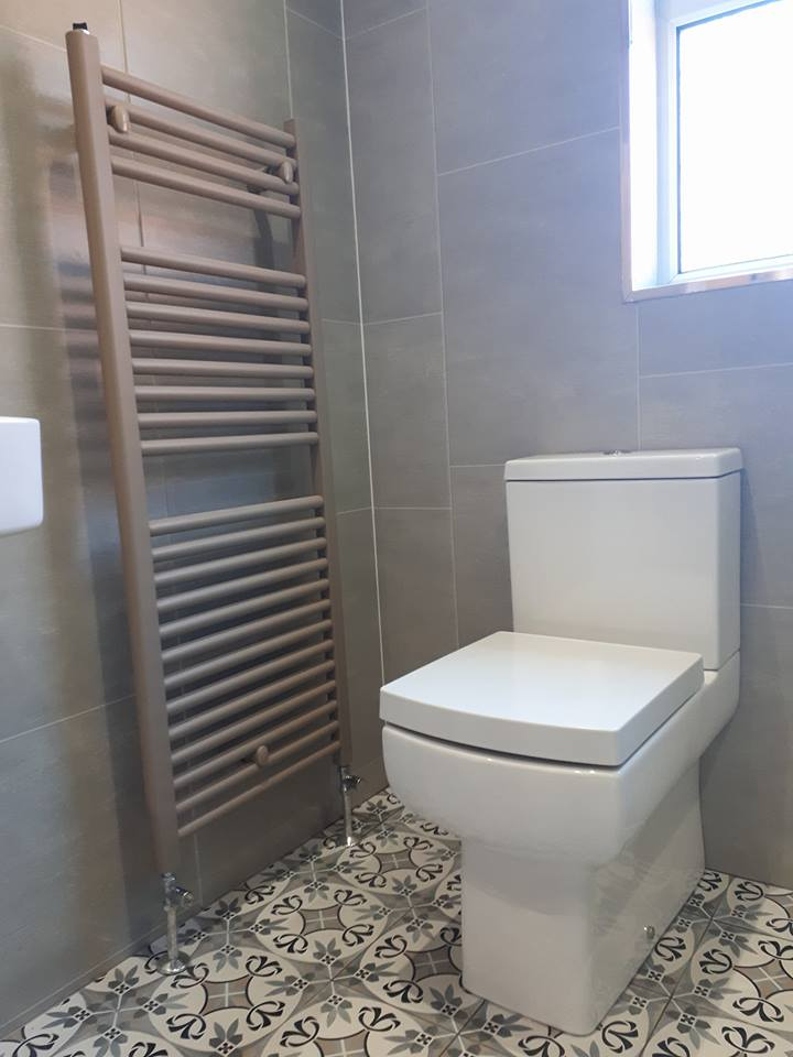 Bathroom Transformation Newtownabbey Olive Stone Tile Effect