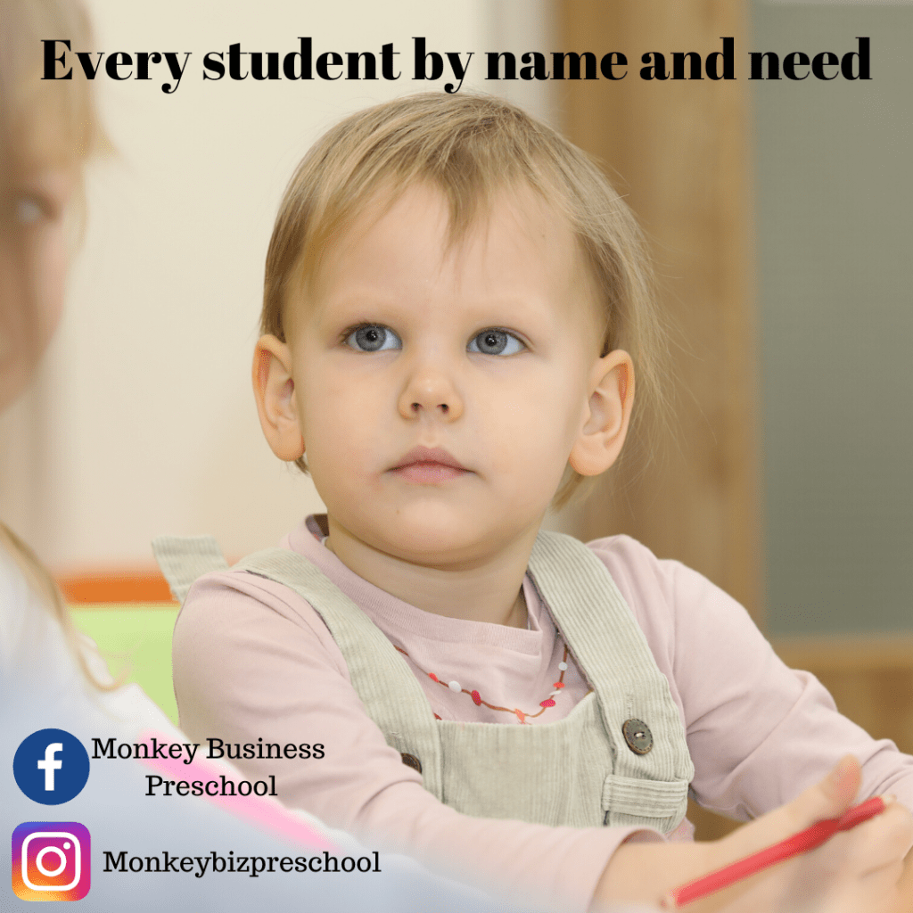 every student by name and need