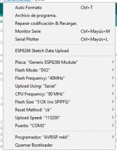 Configuracion ESP01 ESP8266 para IDE Arduino