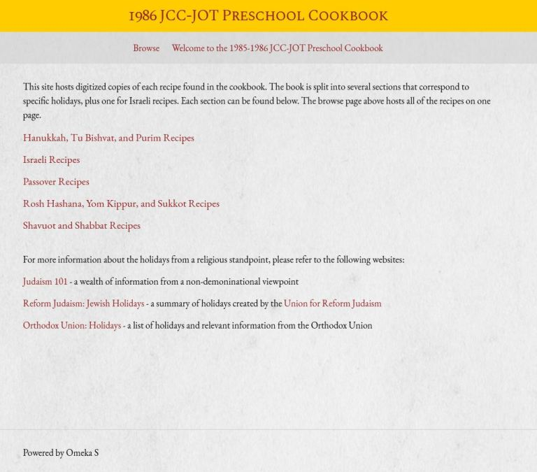 Cookbook Homepage Screenshot