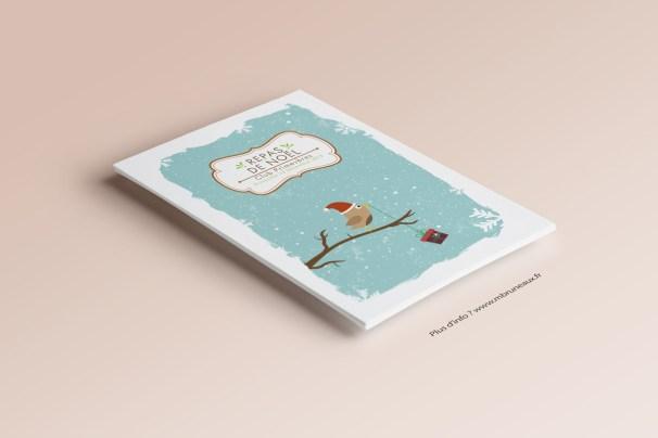 Carton d'invitation Repas de Noël du Club Primevères