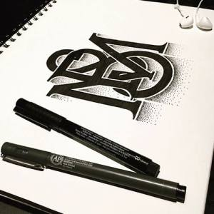 handdrawn typography mbs