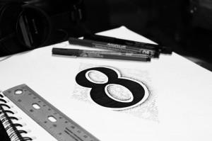 hand drawn typography