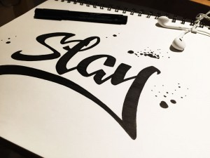 hand drawn typography