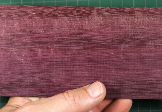 Durable amaranth wood has an unusual color