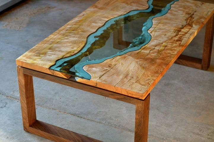 beautiful tables with epoxy resin