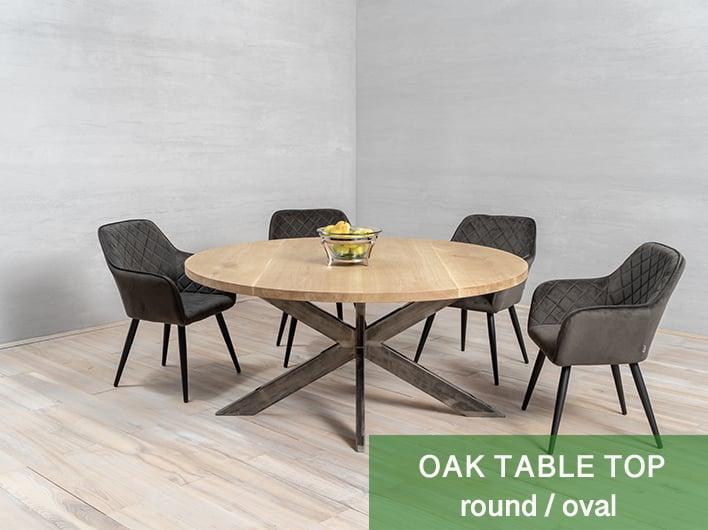 rond / ovaal tafelblad