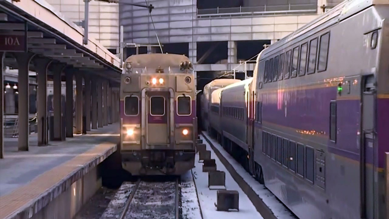 Commuter Rail trains berthed at South Stations