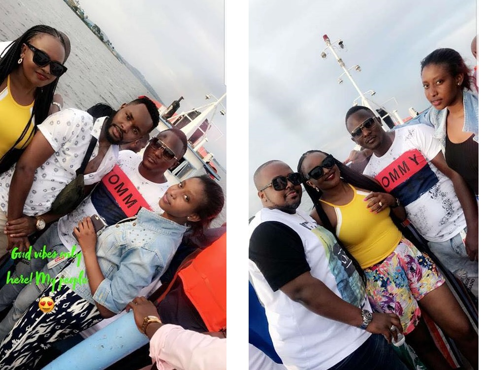 Some of the revelers on the boat before it capsized