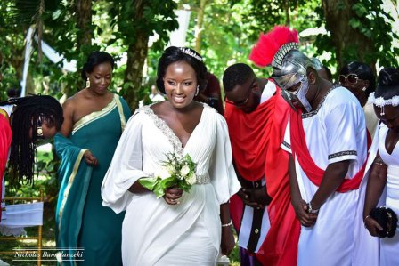 Linda Ndagire at her wedding | PHOTO by Nicholas Bamulanzeki