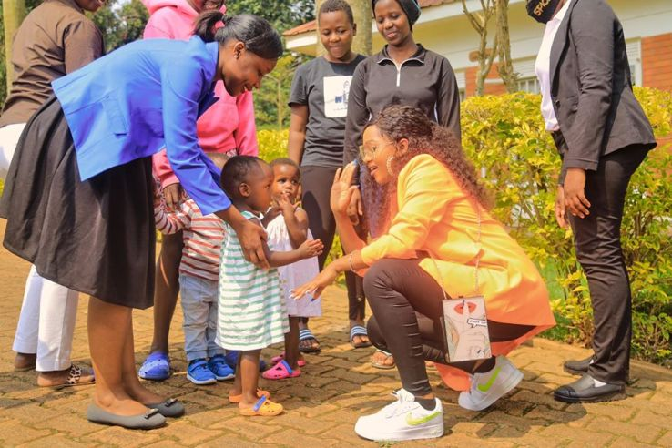 Spice Diana Fellowships With vulnerable kids At Kampala Children's Center. 4