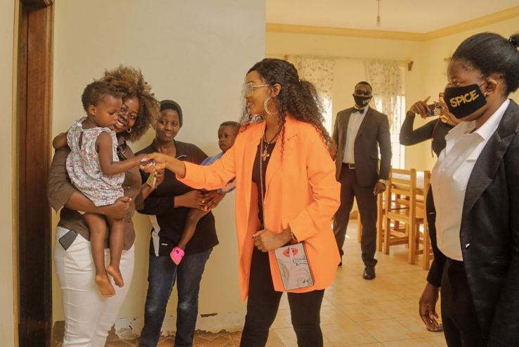 Spice Diana Fellowships With vulnerable kids At Kampala Children's Center. 12
