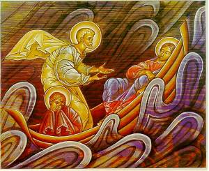 An icon of the Storm on the Sea of Galilee.