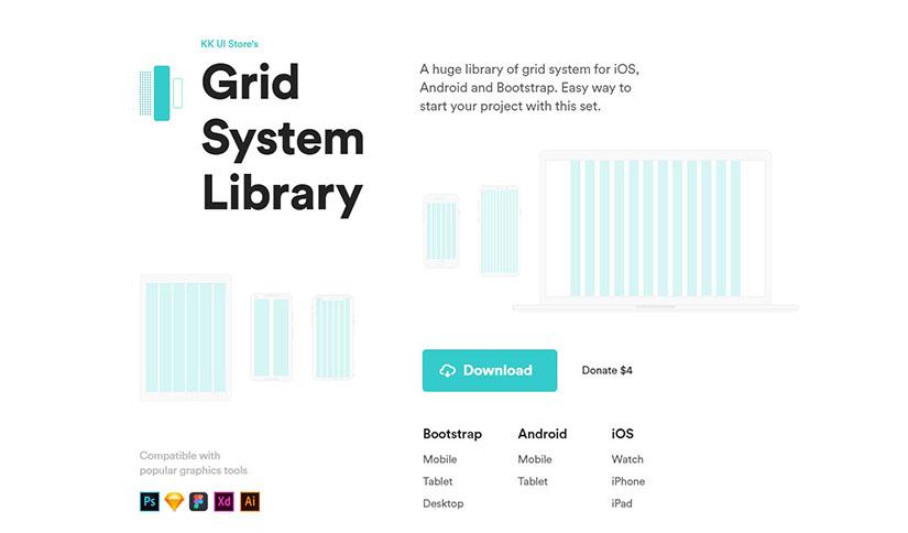 Grid System Library; IOS Android ve Bootstrap Projeleri İçin Geniş Grid Kütüphanesi