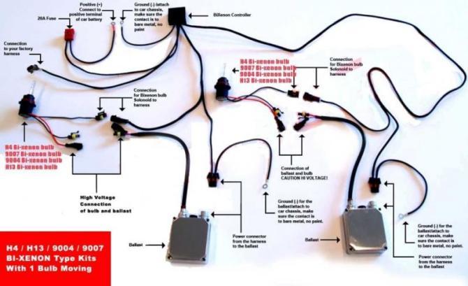 xentec 9007 hid kit wiring diagram  chinese atv cdi wiring