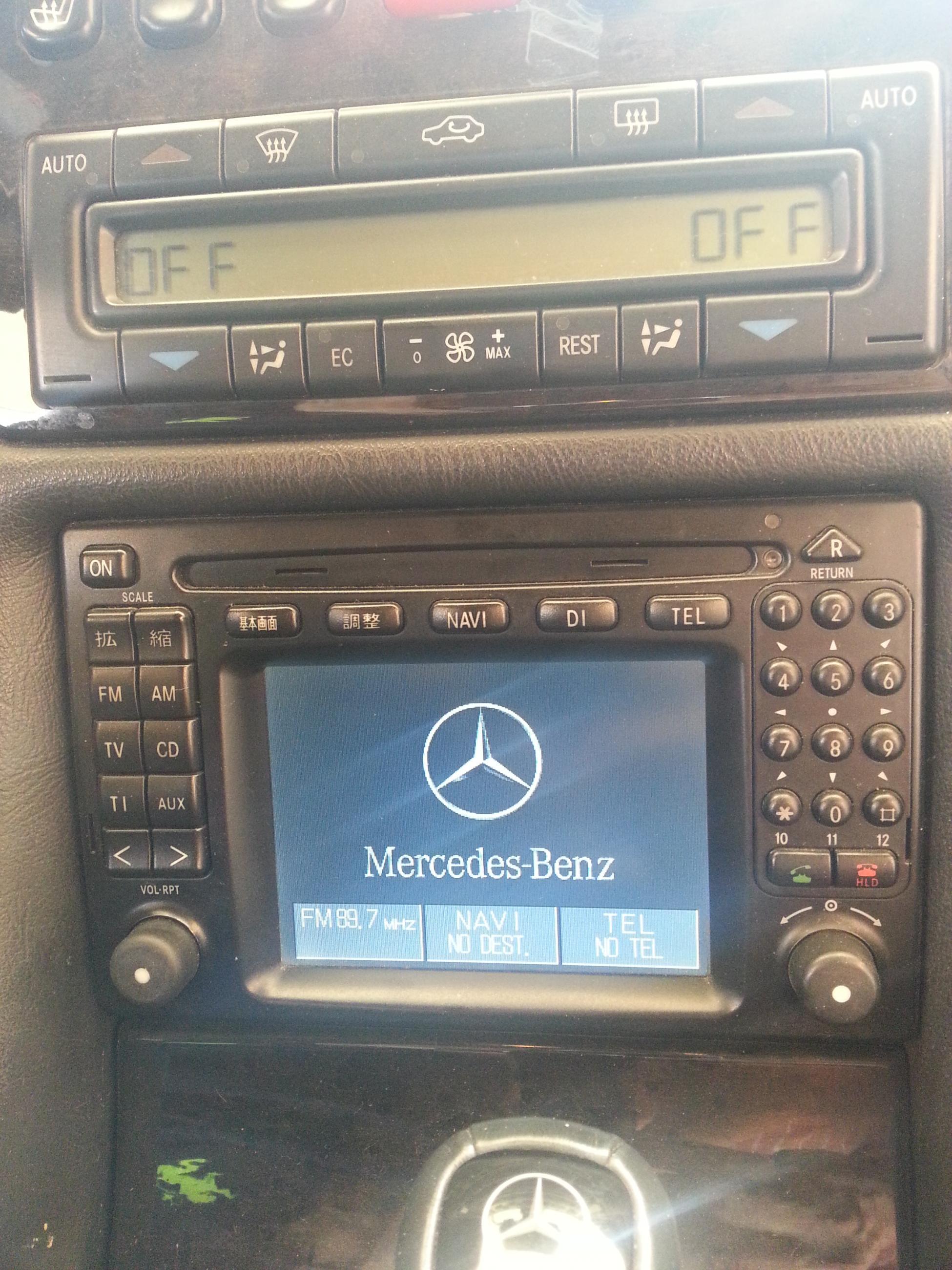 03 Clk 320 Navigation System