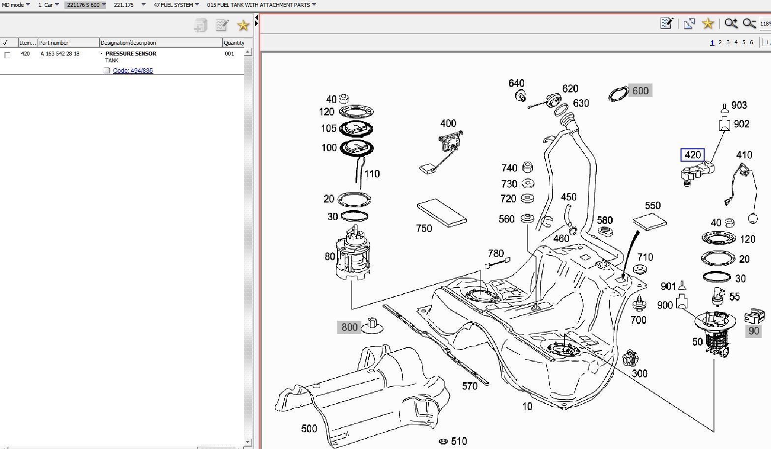 Fuel Pressure Sensor On S600