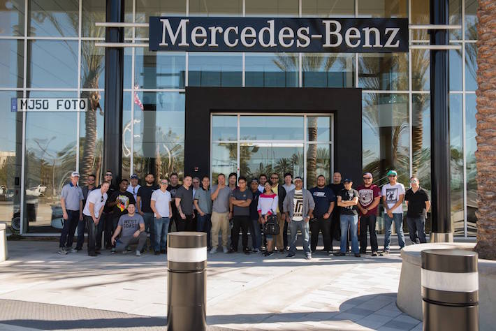 Long Beach Mercedes >> Mb World Members Visit Mercedes Benz Vehicle Preparation