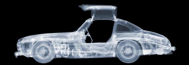 300SL Gullwing X-Ray