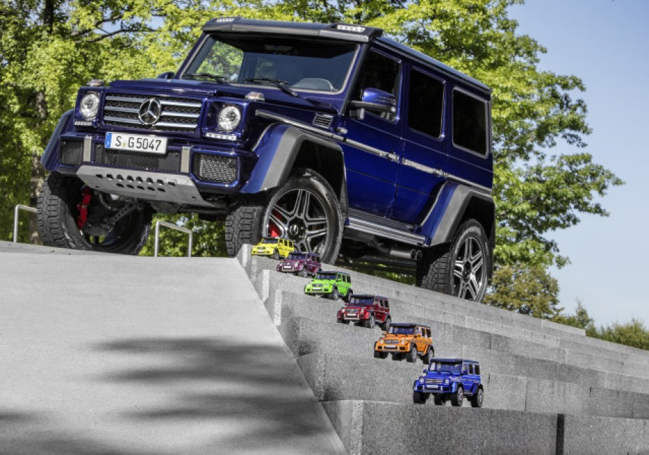 The Mercedes G-Klasse and its miniatures.