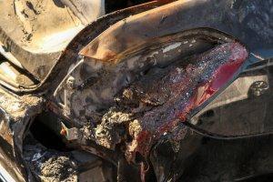Burned Maybach Taillight