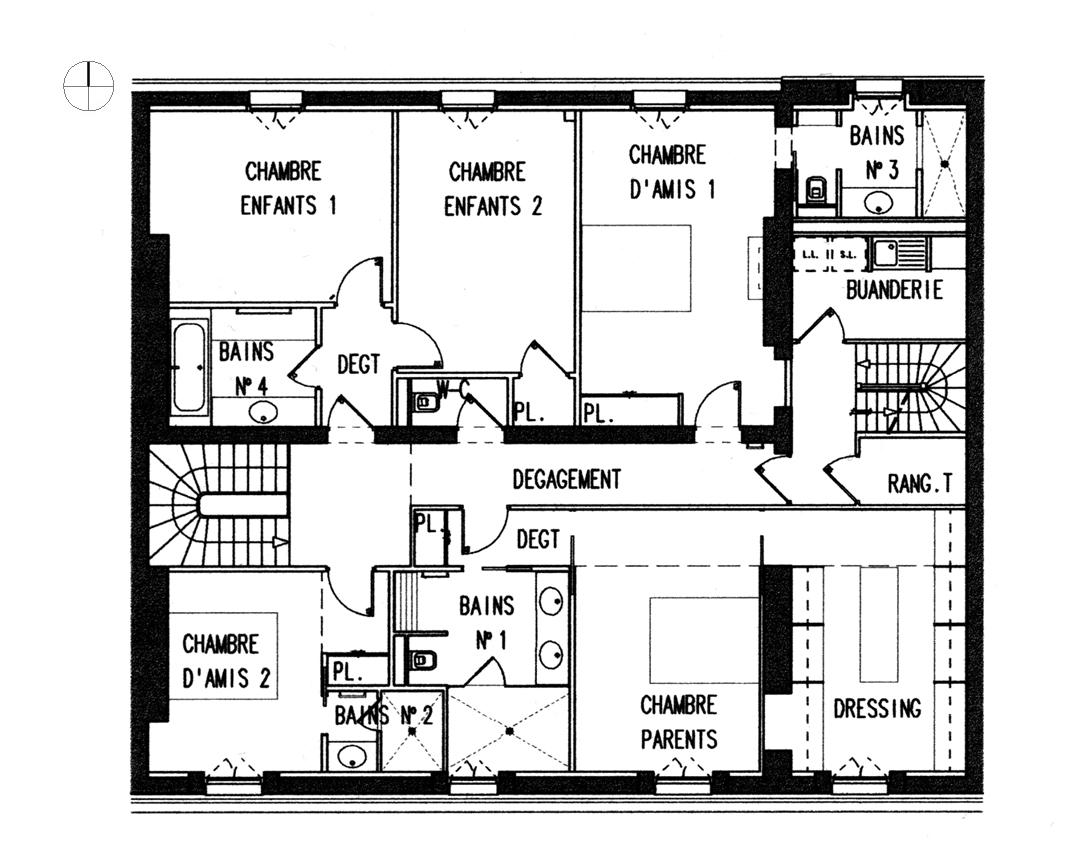 Dessin Plan De Maison Moderne D Architecte Gratuit Novocom Top