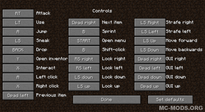 minecraft pc controller mod 1.12