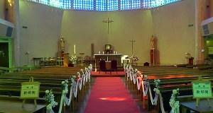 飾り付けを終えた主聖堂