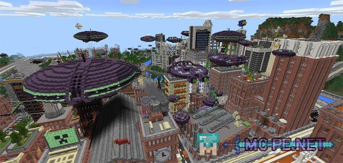 Alien Invasion 100 Maps MCPE Minecraft Pocket Edition Downloads
