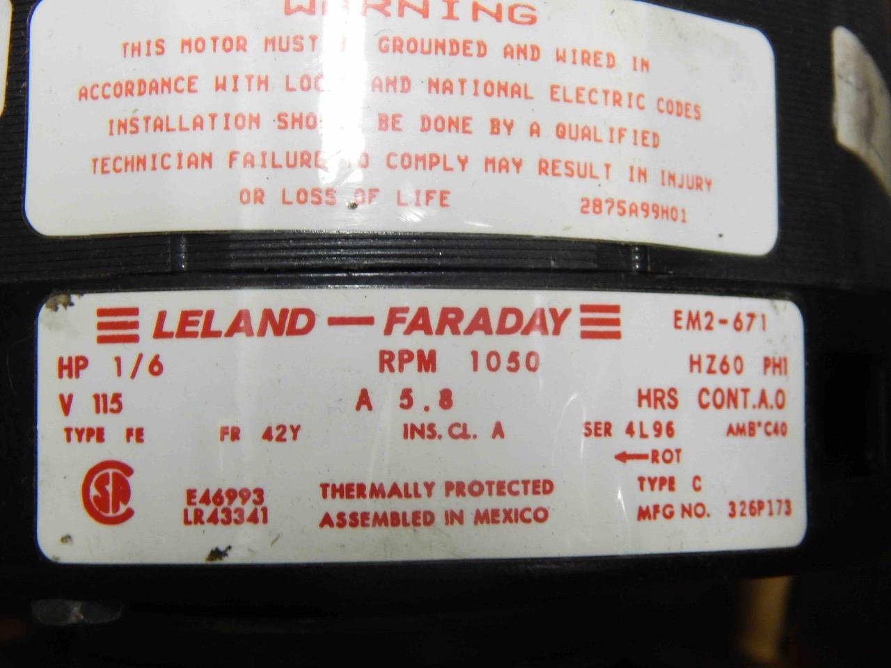 Leland Faraday Motor Wiring Diagram Schematics Bodine Explained Diagrams