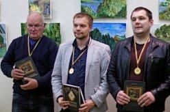 Juozas Sutkevičius; Marius Bieliauskas - Lietuvos šachmatų mėgėjų 2014 m. čempionas; Karolis Šimonis