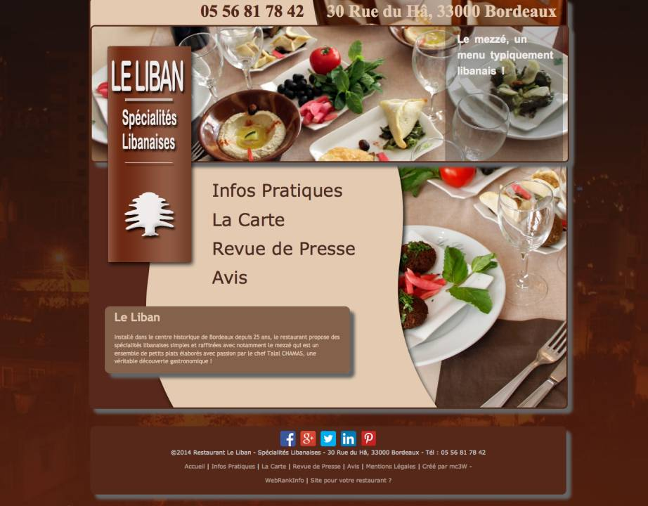 Restaurant Le Liban