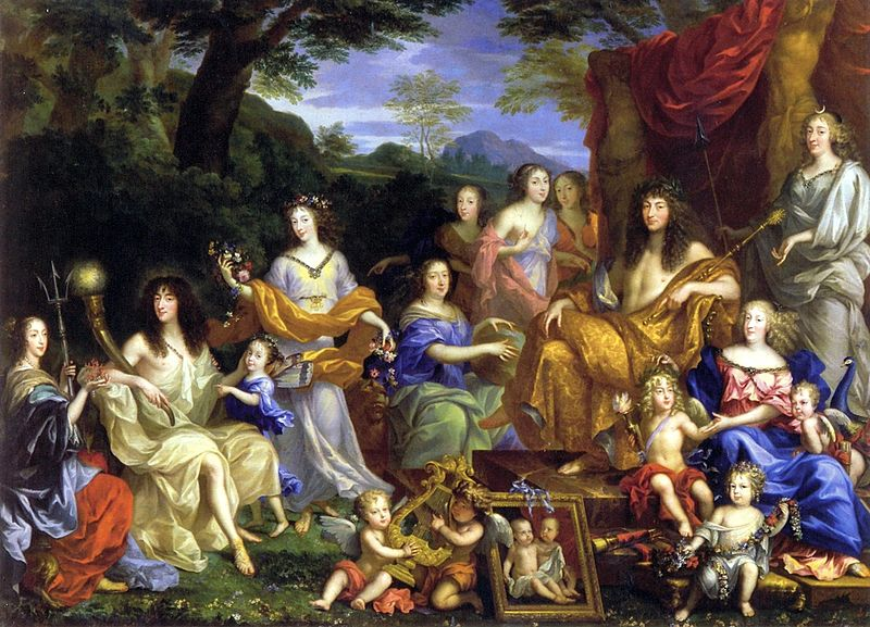 Mythological portrait of the Family of Louis XIV