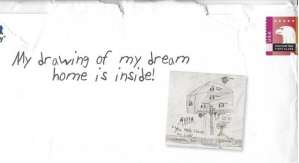 My drawing of my dream home is inside