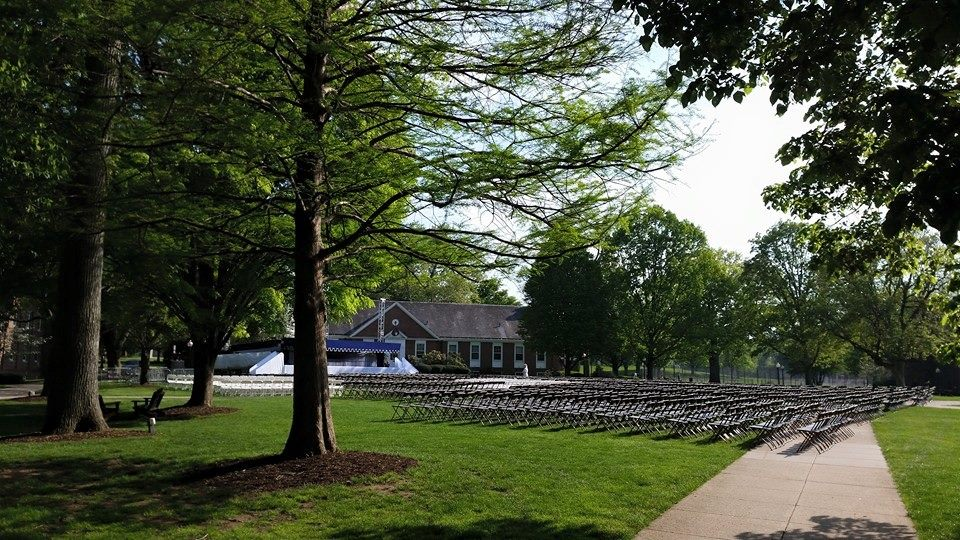Waiting for graduation at F&M