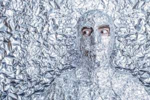 Man frozen in foil