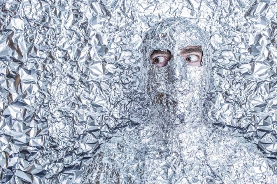 Man frozen in foil