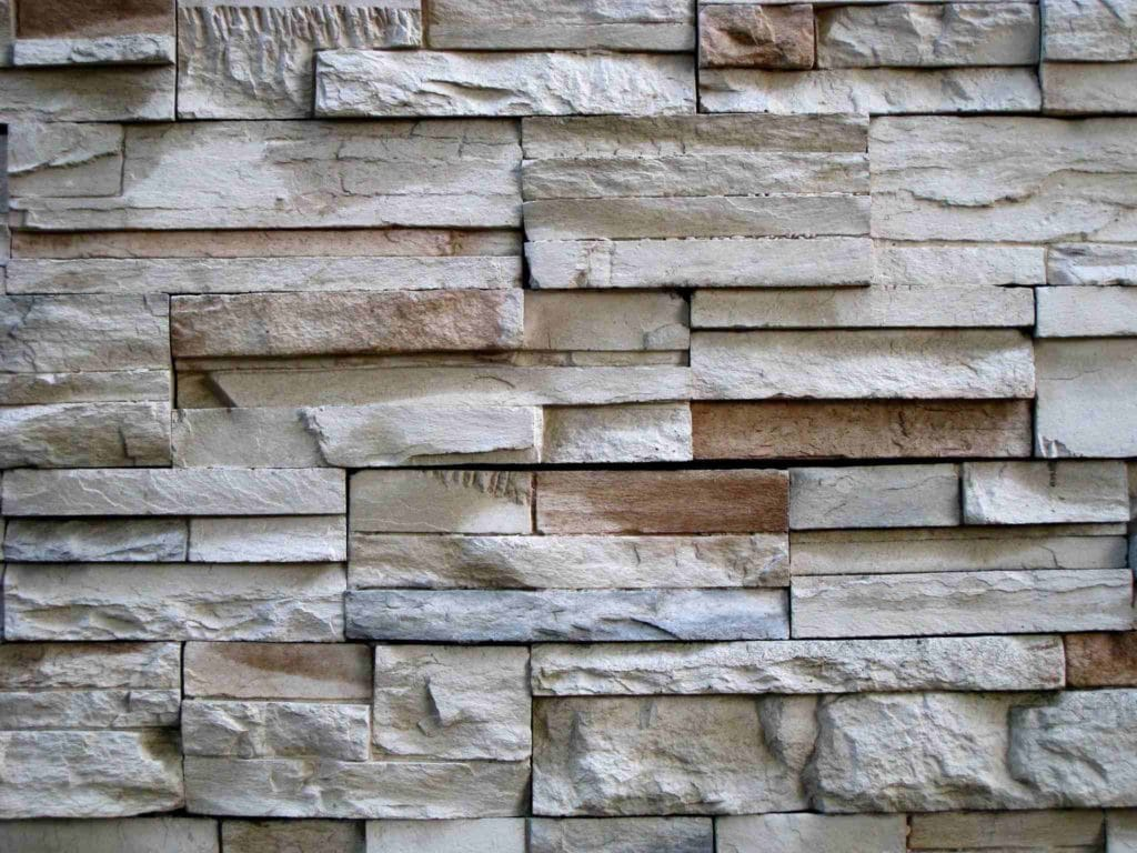 Stone wall barrier