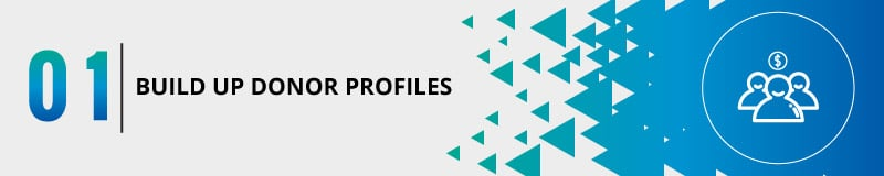 Build up donor profiles