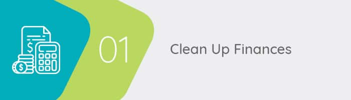 Clean up finances