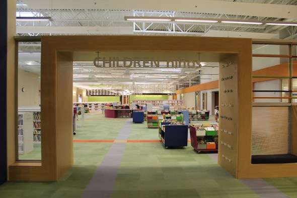Entrance to children's section.