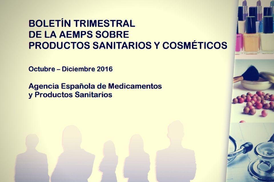 Nuevo Boletín Trimestral de la AEMPS sobre PS y Cosméticos