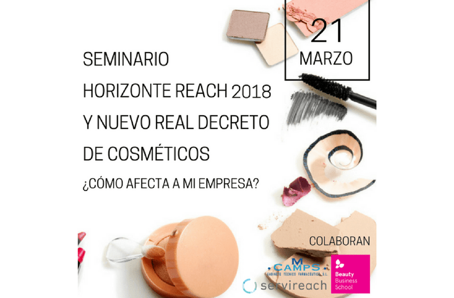 REACH y Real Decreto 85/2018: sesión técnica sobre asuntos regulatorios en Beauty Cluster Barcelona