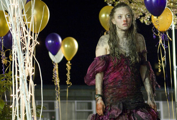 "Amanda Seyfried weathers flesh-eating demons, whiny indie bands and poof sleeves in ""Jennifer's Body."""