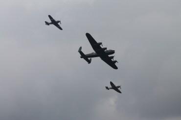 Avro Lancaster B.I, Hawker Hurricane Mk. IIC & Supermarine Spitfire LF. IXE