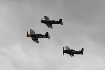 Grumman F8F-2P Bearcat, Goodyear FG-1D Corsair & Vought F4U-7 Corsair
