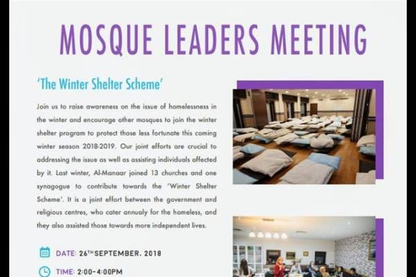 How can mosques serve the issue of homelessness?
