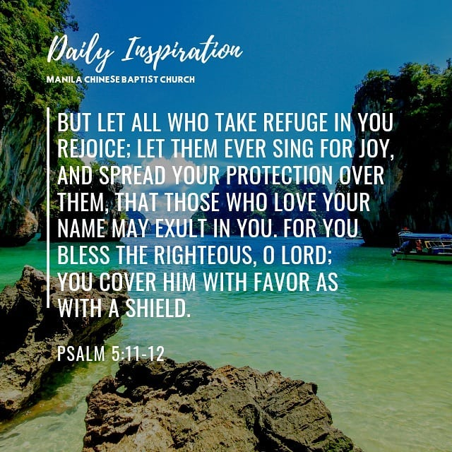 But let all who take refuge in you rejoice; let them ever sing for joy, and spre…